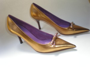 GUCCI GOLD TABAC / AMETYST Pumps