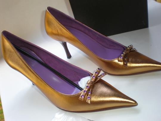 GUCCI GOLD TABAC / AMETYST Pumps Image 2