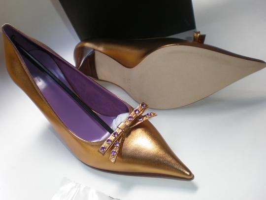 GUCCI GOLD TABAC / AMETYST Pumps Image 3