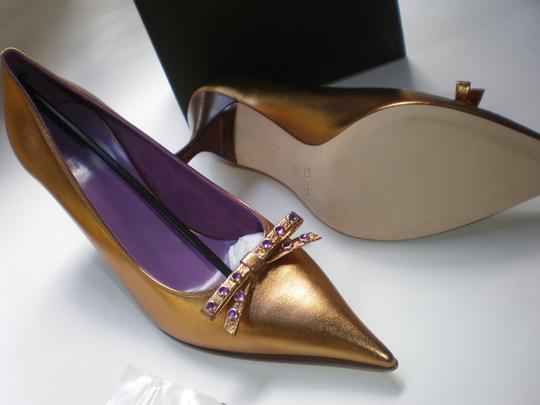 GUCCI GOLD TABAC / AMETYST Pumps Image 4