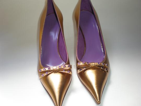 GUCCI GOLD TABAC / AMETYST Pumps Image 5