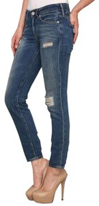 Levi's Destroyed Empire Cropped Made & Crafted Skinny Jeans-Distressed