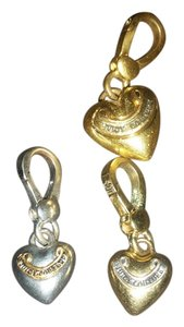 Juicy Couture Juicy Couture silver gold heart charms 20$ each