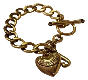 Juicy Couture Juicy Couture Gold Puffed Heart Starter Bracelet