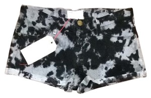 Current/Elliott Shorts Black Grey Tie Dye