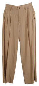 Issey Miyake Pleated Signature Relaxed Pants Tan