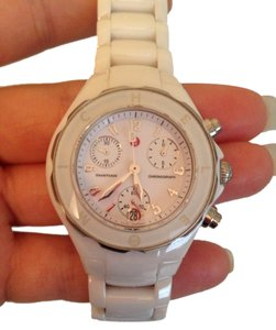 Michele White Ceramic 'tahitian' Watch