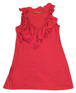 Juicy Couture Ruffle V Neck Work Top Pink