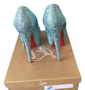 Christian Louboutin Strass Blue Pumps