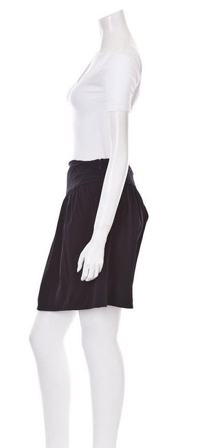Diane von Furstenberg Size 10 Above Knee Mini Skirt Navy Blue