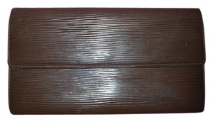 Louis Vuitton LOUIS VUITTON Bifold Long Wallet Brown Epi Pochette Porte Monnaie