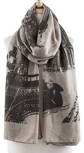 Other VINTAGE INSPIRED PARISIAN PRINT LIGHTWEIGHT LONG SCARF