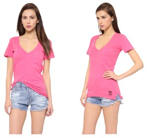 Wildfox T Shirt Hot Pink
