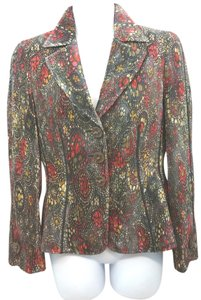 Armani Collezioni Pleated Printed Jacket MULTICOLOR Blazer