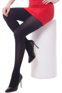 Lang Sha Lang Sha LUXE Velvet 12D Opaque Body Shaper Control Top Tights Size S/M