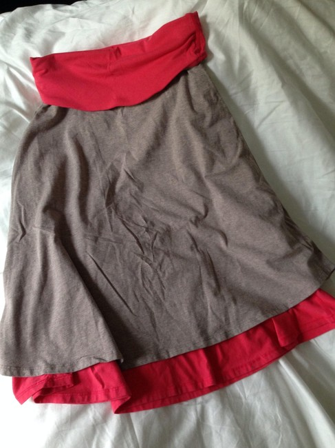 Item - Heathered Beige and Coral Skirt Size 8 (M, 29, 30)