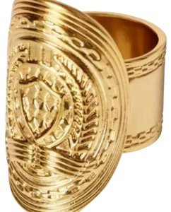 Balmain x H&M Gold Balmain Intricate carved design elongated ring size 5/6