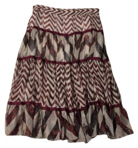 Diane von Furstenberg Skirt Red, white & black