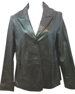 Rem Garson BLACK Leather Jacket