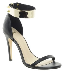 ASOS black with gold Sandals