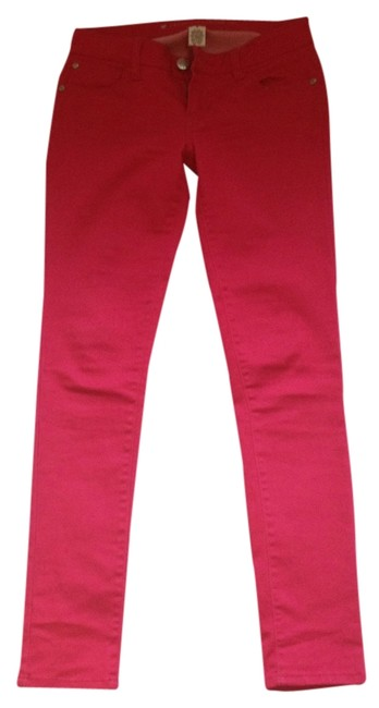 Celebrity Pink Skinny Pants Hot Pink