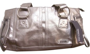 Kenneth Cole Reaction Metallic Satchel in Silver