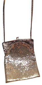 Whiting & Davis Mesh And Mesh Clutch Brown Mesh Shoulder Bag