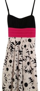 IZ Byer California short dress Black/White/Hot Pink on Tradesy