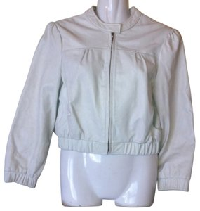 bebe Leather Motorcycle White Leather Jacket