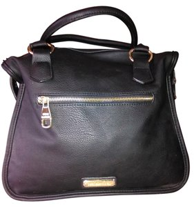 Steve Madden New 100% Cotton Interior Pu Leather Satchel in Black