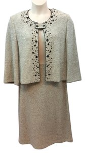 St. John ST. JOHN COLLECTION EMBELLISHED KNIT SKIRT SUIT 12