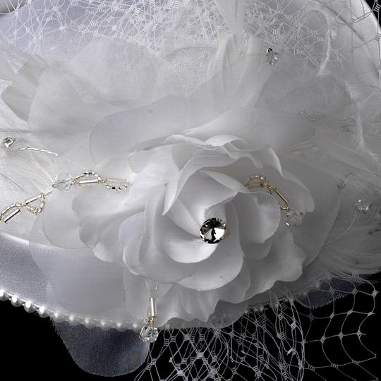 Elegance by Carbonneau Ivory Birdcage Beaded Hat with Bridal Veil