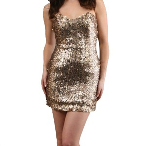 Naven Gold Sweetheart Dress
