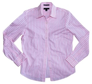 Lands' End Cotton Casual Party Longsleeve Button Down Shirt