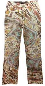 Roberto Cavalli Tribal Cotton Straight Pants