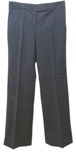 Tory Burch Stretchy Wool Straight Pants NAVY BLUE