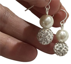Swarovski Elements Swarovski Pearl and Crystal Ball Drop Down Earrings