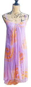Purple and Coral Maxi Dress by Twelfth St. by Cynthia Vincent Embroidered High-low Silk Chiffon Summer
