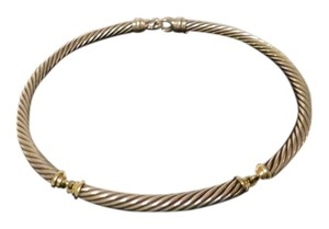 David Yurman David Yurman - Cable Classics - 7mm Sterling Silver and 14k Yellow Gold Choker; 15.5
