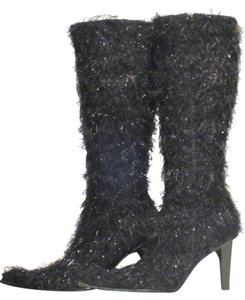 Spicy Footwear Wild And Crazy Black Metallic Boots