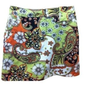 Bamboo Trading Company Spring Skirt Multi-Color/Paisley