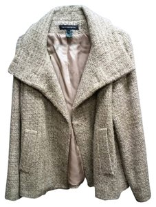 French Connection A-line Taupe Pea Coat