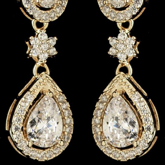 Elegance by Carbonneau Gold Petite Plated Cz Dangle Earrings