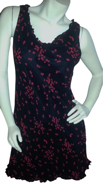Jones New York short dress Red floral on black on Tradesy