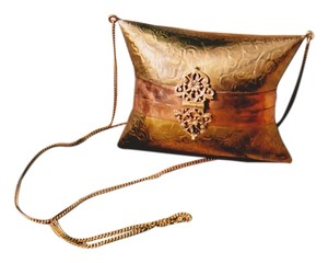 Copper Metal Shoulder Bag