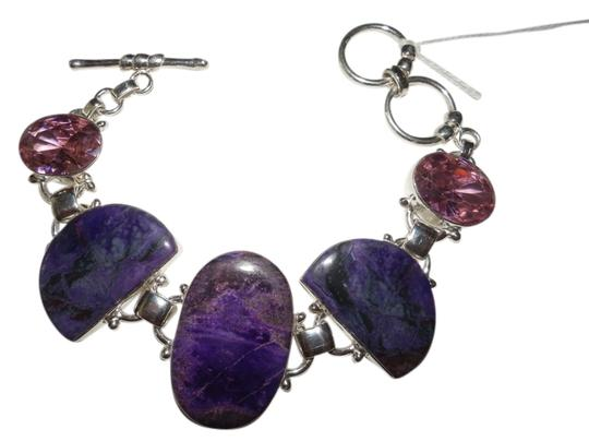 Preload https://item3.tradesy.com/images/deep-purple-and-pink-sugilite-topaz-silver-fine-bracelet-1198267-0-0.jpg?width=440&height=440