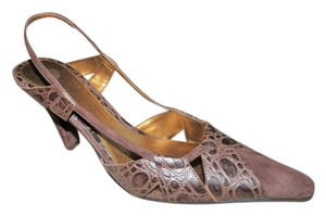 Bandolino Slingback Newwithtags Suedeleather Brown Pumps