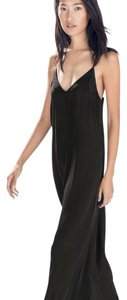 Black Maxi Dress by Zara Chic 2015 Long Maxi Spring Summer Lightweight Easy Lace Beach Nwt New S Small Low Cut
