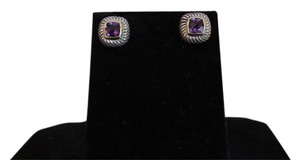 David Yurman David Yurman Albion Collection - 7mm Amethyst Sterling Silver/14k Yellow Gold Earrings