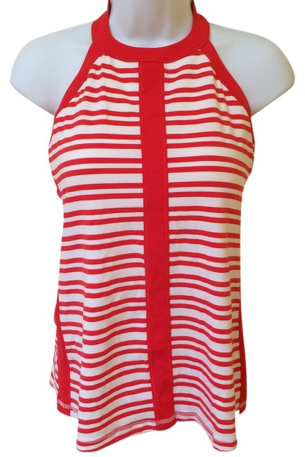 Item - Red White Striped Hip To Be In Love Twin Activewear Top Size 8 (M, 29, 30)